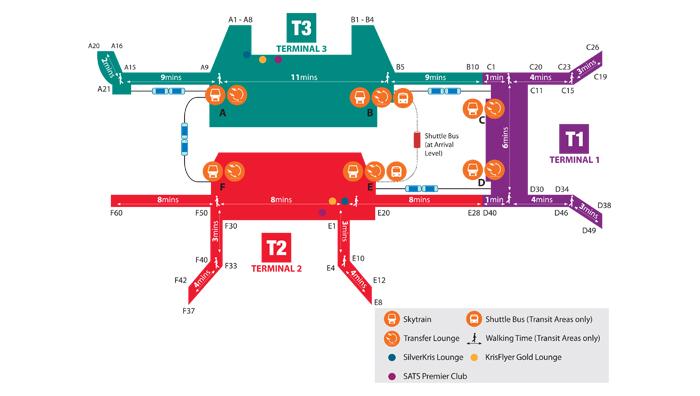 【プライオリティパス】シンガポールのチャンギ空港のパブリックエリア(出国審査ゲート前)で仮眠出来る場所。