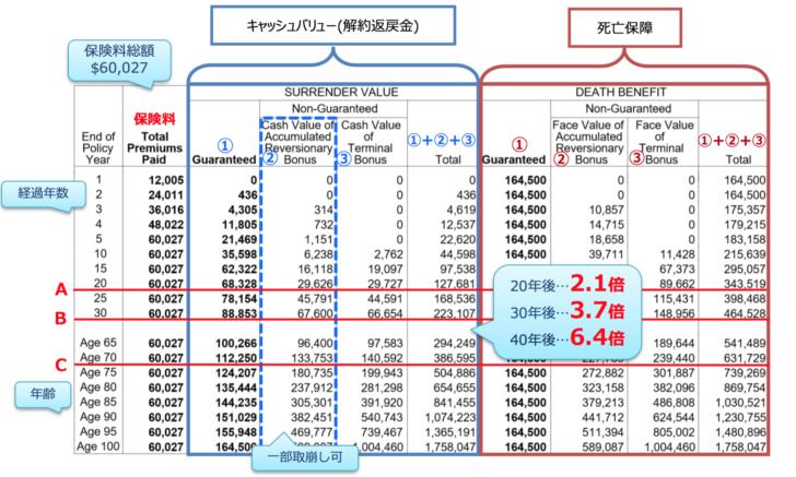 オフショア保険の金額シミュレーション